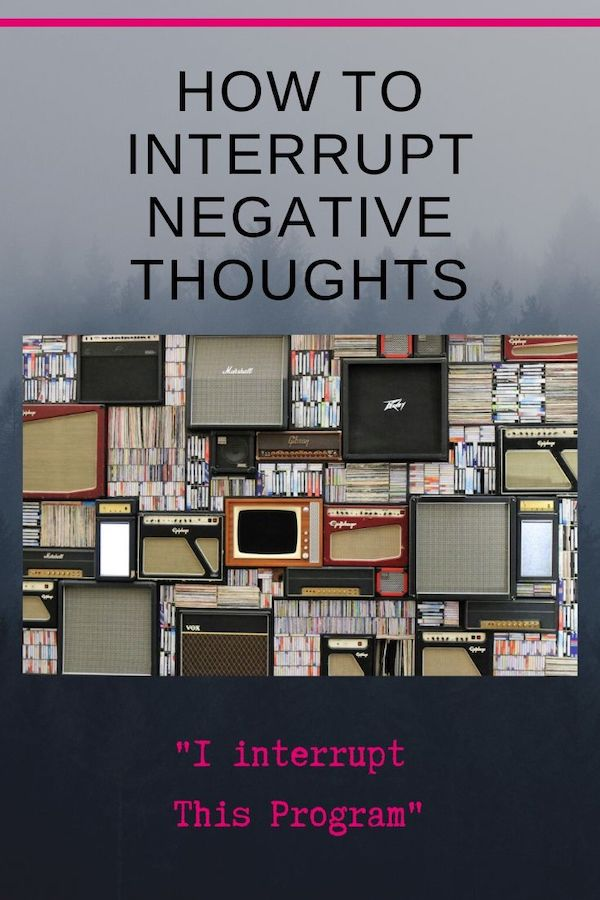 Are you wondering how to interrupt negative thoughts? This week's blog will teach you an awesome trick to kick those thoughts right out of your brain! Click through to learn more! Pin now, read later! Do Well, Be Well, Live Well, The Weekly Well- Weekly inspiration to live YOUR best life #negativity #stressrelief #fitmind #youmatter #liveyourbestlife