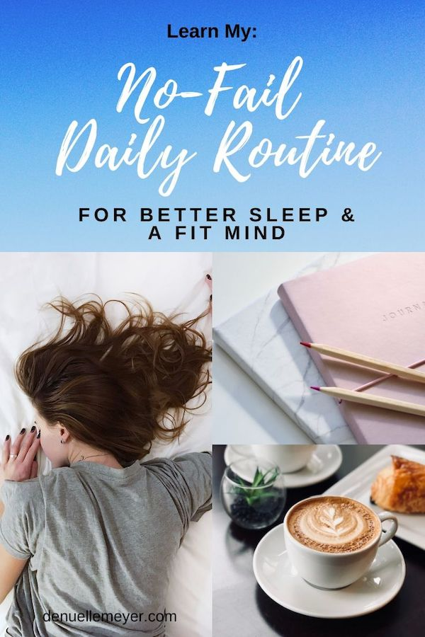 Did you know there is a no-fail daily routine that can help you to have a fit mind, less stress and anxiety, and better sleep? Well, there is, and I use it myself, and so do my clients! Click through to learn more! Do Well, Be Well, Live Well, The Weekly Well- Weekly inspiration to live YOUR best life. #fitmind #routine #dailyroutine #stressrelief #bettersleep