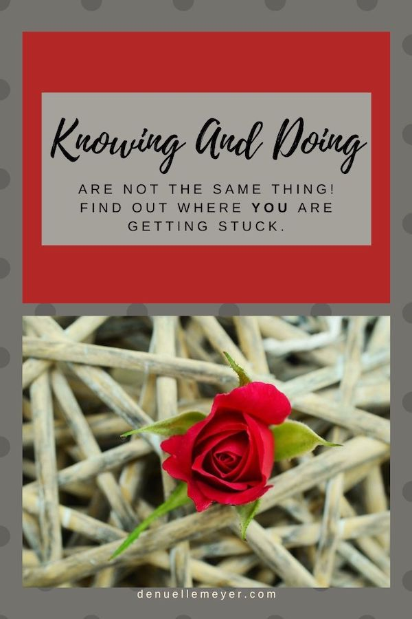 Knowing and Doing are not the same thing! Find out where you are getting stuck. I promise ladies, that we all have somewhere we get stuck and it is preventing you from being the badass you are meant to be! Click through to learn more! Do Well, Be Well, Live Well The Weekly Well- Weekly inspiration to live YOUR best life. Pin NOW, Read LATER #fitmind, #stressrelief #anxiety #liveyourbestlife #knowinganddoing #stuck