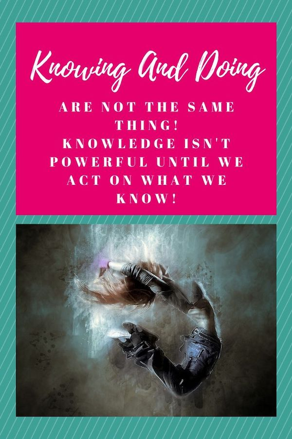 Knowing and Doing are not the same thing! Find out where you are getting stuck. I promise that we all have somewhere we get stuck, and it could be preventing you from being the badass you are meant to be! Click through to learn more! The Weekly Well- Weekly inspiration to live YOUR best life. Pin NOW, Read LATER #fitmind, #stressrelief #anxiety #liveyourbestlife #knowinganddoing #stuck