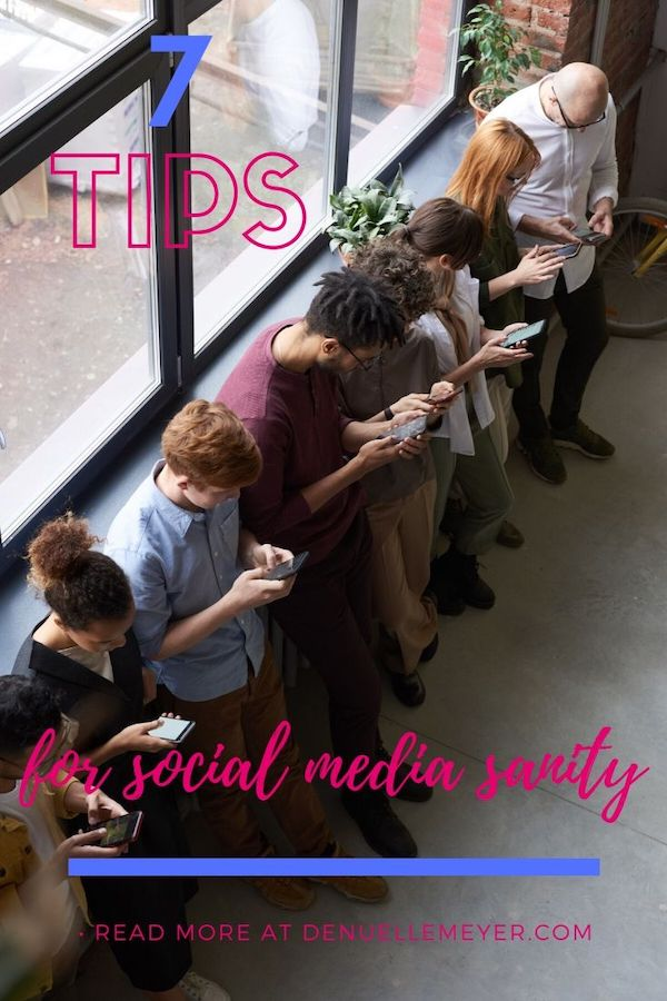 Love it or hate it, social media is here to stay! That being said, it is likely you have some kind of struggles with social media. Good news alert!! There is a way to engage in social media, so you don't end up depleted…and even walk away energized! Check out my 7 tips for social media sanity. Click through to read more! Pin NOW, Read LATER #fitmind, #stressrelief #anxiety #liveyourbestlife #stress #socialmedia #socialmediasanity