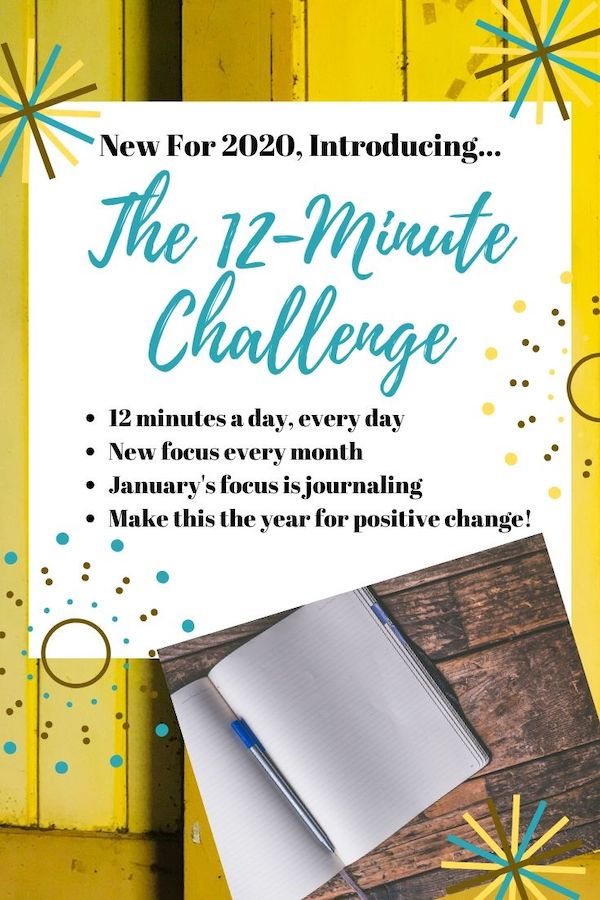 The 12-minute challenge is going to set you up for positive and sustainable changes for the whole year! Stick with me each month when I pick a new focus. This month is journaling! 12 minutes a day to get you one step closer to a fit mind. Click through to learn more! Pin now, read later! #journaling #journal #12minutechallenge #stressrelief #fitmind #change #newyearnewyou