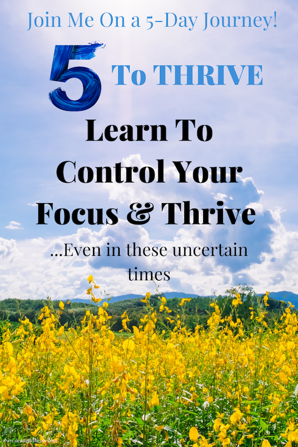 If you find yourself feeling down, tired, or lacking direction, trust me, you are not the only one. I get it and I want to help! I will show you how to control your focus, reboot your drive, manage your moods, and not only survive but thrive in these uncertain times. Click through to take the totally free 5 To Thrive Journey. It is only 5 days, totally doable! Join me today! #stressrelief #selfcareathome #positivechange #lifecoach #fitmind #relax