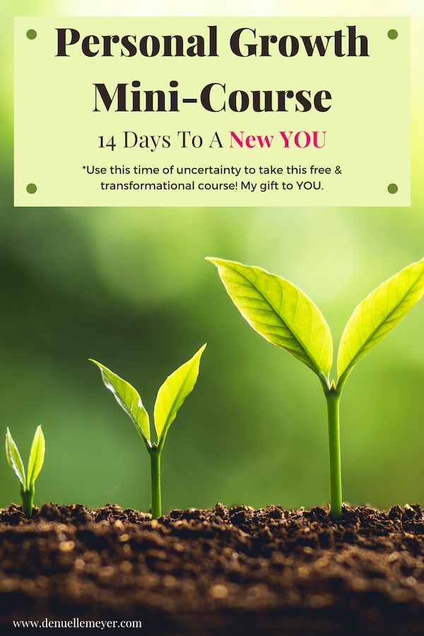 I've designed this Mini-Course to help you with your Personal Growth. I want to shine a light on where you are now, help you visualize where you want to be, and coach you along the way. Use this crazy time to do something transformational for YOU. Click through to start this free course today! #stressrelief #selfcareathome #growth #lifecoach #fitmind #relax